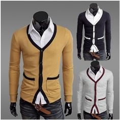Men's Slim Fit Cardigan.  That's a heckuva suggestive belt there...