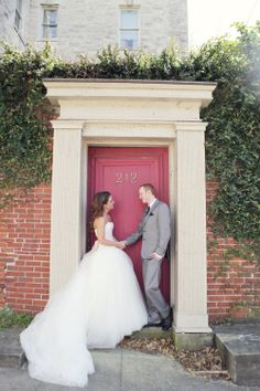 Bride & Groom | Dana Laymon Photography | http://www.theknot.com/weddings/album/a-128-south-wedding-in-wilmington-north-carolina-160884