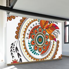 Autumn mandala wall mural in 2019 wall murals wall murals diy.