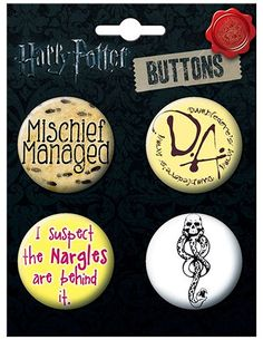 Ata-Boy Buffy the Vampire Slayer Assortment #1 Set of 4 1.25 Collectible Buttons