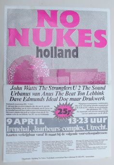 No Nukes in Holland Poster of the festival in Utrecht starring U2 & The Stranglers