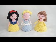 Hello everyone i& proud to show you my new creations of amigurumi. I& been obsessing to make Disney princesses and few other things as well. Amigurumi Tutorial, Crochet Amigurumi Free Patterns, Doll Tutorial, Free Crochet, Tutorial Crochet, Crochet Disney, Knitted Dolls, Crochet Dolls, Crochet Crafts