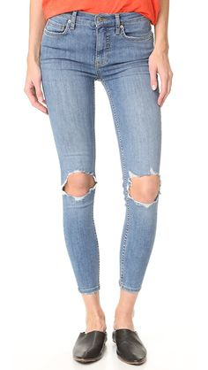 4cb9cbf6997b Free People High Rise Busted Skinny Jeans