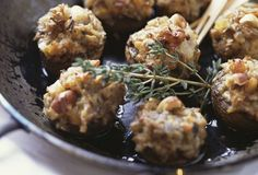 Easy Low Carb Stuffed Mushrooms with Blue Cheese