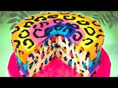 Rainbow Leopard Cake from Cookies Cupcakes and Cardio - YouTube