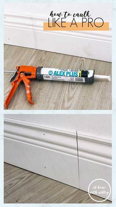 how to caulk baseboards and windows trimlike a pro. Quick and easy steps so your project will look professional (and be less of a mess)! Plus a video tutorial of this DIY Caulk Baseboards, Painting Baseboards, Caulking Tips, Diy Home Accessories, Diy Home Repair, Home Upgrades, Do It Yourself Home, Diy Home Improvement, Home Renovation