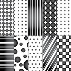 Scrapbook Paper . PRINTABLE . 8.5x11 . Shapes . Black & White Reverse . Set of 10 ~ $2.00 ~ printable papers, printable paper, paper, scrapbook paper, scrapbooking paper, printable black and white paper, square paper, polka dots, black and white, black paper, white paper, positive and negative, classy paper, hollywood glam paper ~ #blackandwhite #bandwparty #bandw #bandwideas #blackandwhiteparty ~  https://www.etsy.com/listing/88421216