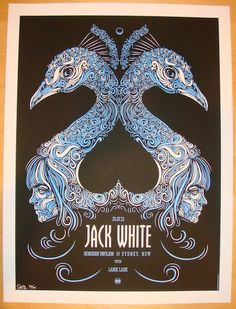 2012 Jack White - Sydney Concert Poster by Todd Slater