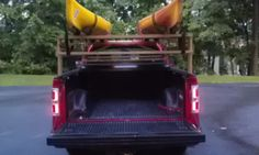 DIY Kayak Rack for Pickup - that is...if we ever become kayakers!