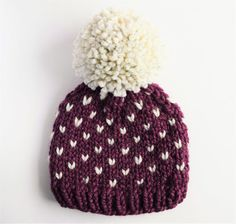 Hat Pattern // Knit Hat Pattern // Toddler Hat by KniftyKnittings #affiliate