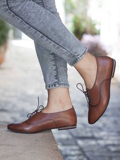 8aae86bab26 Women Leather Shoes Leather Oxfords Oxford Shoes Painted