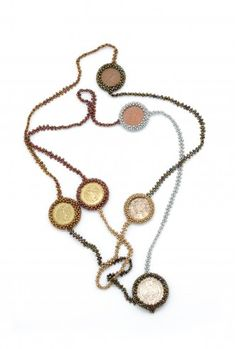 Long Coin Necklace - Features coins from around the world. You'll have great vacation stories to share when you wear this design. Click through to learn more. Dunitz & Company is a Fair Trade Federation member. Seed Bead Necklace, Coin Necklace, Seed Beads, Beaded Necklace, Pendant Necklace, Trade Federation, Fair Trade Jewelry, Fair Trade Fashion, World Coins