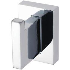 Aqualux Haceka Edge Hook ($14) ❤ liked on Polyvore featuring home, bed & bath, bath, bath accessories, shower door caddy, door towel rack, door shelves, door shelving and adjustable shelves