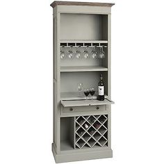 Antique french grey #shabby chic #drinks cabinet wine rack bar #(h14670),  View more on the LINK: http://www.zeppy.io/product/gb/2/161836482237/