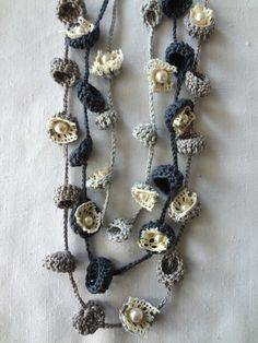 Bohemian Bells Necklaces PDF Pattern-crochet necklace by sewella