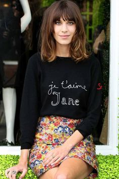 Alexa Chung's chopped locks are effortlessly chic