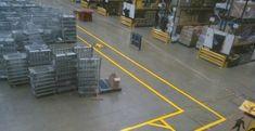 Warehouse Walkway Markings in Higher Alham #Factory #Footpath...