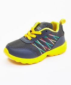 0e65a6f3241 Loving this Runner Gray & Yellow Zigzag Running Sneaker on #zulily!  #zulilyfinds