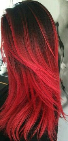 dark red hair color cherry ombre hair red pompadour wig black and red ombre hair orange ginger hair red hair dye for black hair - Hair Color Ideas Dye Black Hair Red, Dyed Red Hair, Black Ombre, Brown Hair, Red Hair Ends, Red Hair Red Dress, Red Hair Male, Cool Hair Dyed, Red Hair Outfits