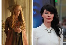 Transformation on a 1 to 10 scale, 10 being the most drastic: 9. Cersei's got the looks of a sweet fairtytale princess and the heart of a frozen b*tch; Lena, with her jet black hair, avant-garde hairstyles, and bicep tattoo, looks like one tough lady...but is probably a very nice woman, obviously.
