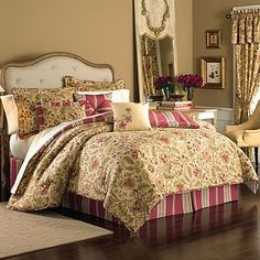 Transform any bedroom into a luxury suite with the Constance 7-piece reversible comforter set.