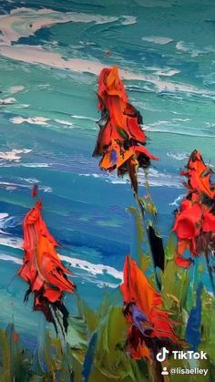 Original Fine Palette Knife Art Oil Paintings by Lisa Elley. Home – Malerei Oil Painting Abstract, Painting & Drawing, Watercolor Paintings, Oil Paintings, Body Painting, Knife Art, Paint Flowers, Drawing Flowers, Painting Techniques