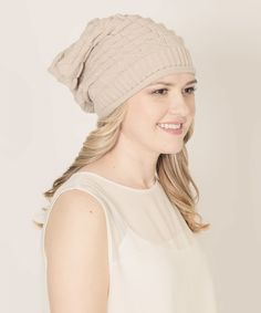 Stay Warm In Style Ivory Warm & Wise Slouchy Beanie by Stay Warm In Style #zulily #zulilyfinds