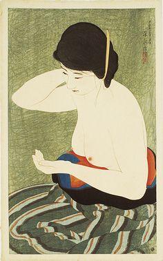Ito Shinsui (伊東深水) 1898-1972, Japanese Artist, 朝丘雪路(子)