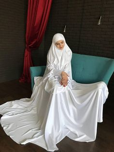 Nikah Wedding Dress Luxury Items Similar to Elegant White Muslim Suit Silk Bridal Modest Dresses, Modest Outfits, Bridesmaid Dresses, Wedding Dresses, Modest Clothing, Wedding Hijab, Muslim Fashion, Modest Fashion, Skirt Fashion