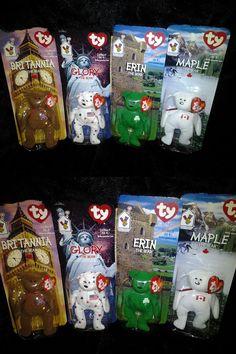 d76db315c04 Lot of 4 TY Teenie Beanie International Bears 1999 McDonald s Happy Meal  Toys