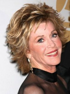 Jane Fonda has one of the most popular layered haircuts for women over 40.