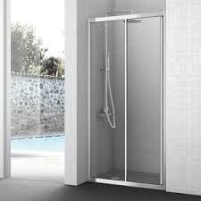 Image result for shower niche in glass with double doors