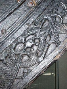 Detail of the Oseberg ship
