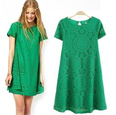 new 2014 summer dress women fashion lace dres sexy casual dresses short sleeve free shipping to brazil russia $13.98