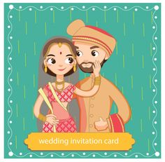 cute Indian bride and groom in traditional dress for the wedding invitations ca. cute Indian bride and groom in traditional dress for the wedding invitations card STEP-BY-STEP INSTRUCTIONS and PHOTOS t. Wedding Card Design Indian, Indian Wedding Couple, Indian Wedding Cards, Indian Bride And Groom, Indian Bridal, Indian Wedding Invitation Cards, Wedding Invitation Background, Wedding Invitation Card Design, Indian Invitations