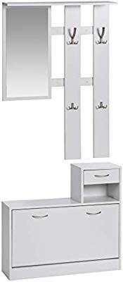 Ts Ideen 3er Set Wand Garderobe Spiegel Schuhkipper Schuhschrank