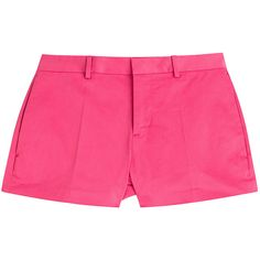 Dsquared2 Tailored Cotton Shorts (108 AUD) ❤ liked on Polyvore featuring shorts, pink, pink cotton shorts, pink shorts, dsquared2, cotton shorts and tailored shorts