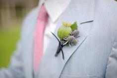 love this boutonniere Wedding Groom, Blue Wedding, Diy Wedding, Wedding Flowers, Wedding Ideas, Gents Fashion, Fairytale Weddings, Bridal Photography, Wedding Styles