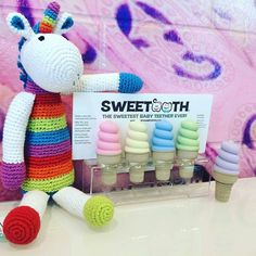 Rare Pebble product spotted!  These rare Pebble Unicorn rattles don't hit the stores until 2017 but if you find the right retailer you just might be able to snag one. Hint: these retailers will also be selling @applecheeksdipe. -repost from @naturesbabybasket Sweet unicorn hanging out in the store #pebblechild #sweetooth @pebblechild #unicorn #rainbow #pebblespotted @babysweetooth#instarepost20