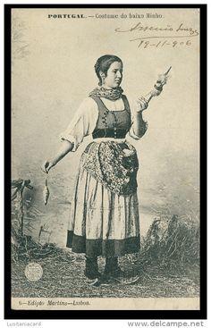 PORTUGAL - MINHO - COSTUMES - Baixo Minho ( Ed. F. A. Martins Nº 6)carte postale