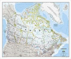"""Canada Wall Map (Classic Style, Tubed) 38"""" x 32"""": 9781597753548: Reference Books @ Amazon.com"""