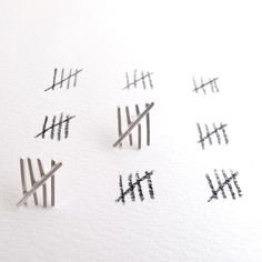 Tally Mark Earrings  Sterling Silver Posts by NinaGibsonDesigns, $50.00, just in case you see the Silence when you are buying jewelry.