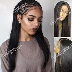 Malaysian Human Hair Silk Top Full Front Lace Wigs Straight Baby Hair Beauty Y9
