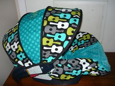 Groovy Guitars Lagoon with Teal Car Seat Cover. $65.00, via Etsy.