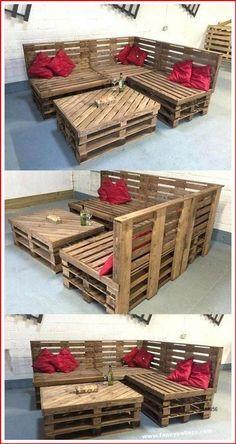 Pallet Furniture Designs, Pallet Garden Furniture, Wooden Pallet Projects, Diy Outdoor Furniture, Recycled Furniture, Wooden Pallets, Furniture Projects, Diy Furniture, Barbie Furniture