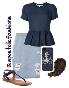 """Apostolic Fashions #1714"" by apostolicfashions ❤ liked on Polyvore featuring IRO, Veronica Beard, SONOMA Goods for Life and Casetify"