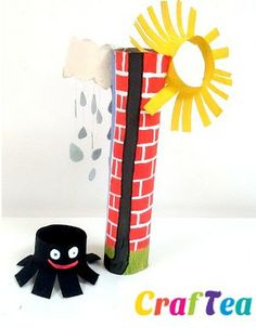 Make lyrics come to life! Act Out Incy Wincy Spider with this Toilet Paper Tube Craft.
