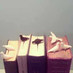 studio macura - pero: Bird bookmarks