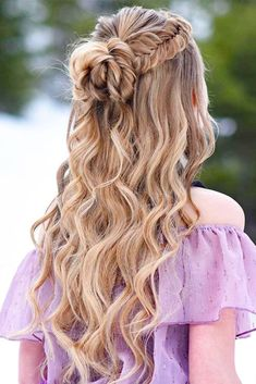 glamorous and timeless wedding hair half up half down hairstyles; wedding hairstyles trendy hairstyles and colors wedding hairstyles half up half down; wedding hairstyles for long hair; Wedding Hairstyles Half Up Half Down, Wedding Hair Down, Wedding Updo, Braids For Wedding, Wedding Bride, Wedding Cake, Dance Hairstyles, Easy Hairstyles, Elegant Hairstyles