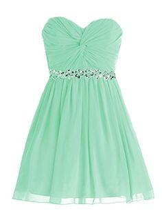 Dressystar Short Chiffon Bridesmaid Dresses Strapless Girls Prom Gowns Size 14 Mint Dressystar http://www.amazon.com/dp/B00L559XSY/ref=cm_sw_r_pi_dp_XdNhub0KVR0EK